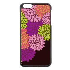 Floral Card Template Bright Colorful Dahlia Flowers Pattern Background Apple iPhone 6 Plus/6S Plus Black Enamel Case