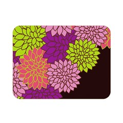 Floral Card Template Bright Colorful Dahlia Flowers Pattern Background Double Sided Flano Blanket (Mini)