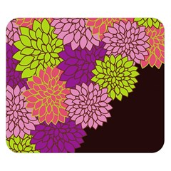 Floral Card Template Bright Colorful Dahlia Flowers Pattern Background Double Sided Flano Blanket (small)