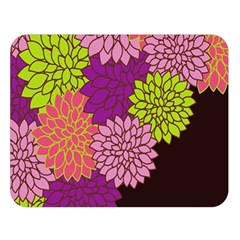Floral Card Template Bright Colorful Dahlia Flowers Pattern Background Double Sided Flano Blanket (large)