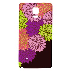 Floral Card Template Bright Colorful Dahlia Flowers Pattern Background Galaxy Note 4 Back Case