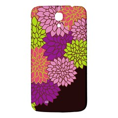 Floral Card Template Bright Colorful Dahlia Flowers Pattern Background Samsung Galaxy Mega I9200 Hardshell Back Case