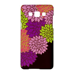 Floral Card Template Bright Colorful Dahlia Flowers Pattern Background Samsung Galaxy A5 Hardshell Case
