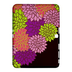 Floral Card Template Bright Colorful Dahlia Flowers Pattern Background Samsung Galaxy Tab 4 (10.1 ) Hardshell Case