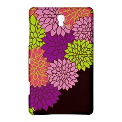 Floral Card Template Bright Colorful Dahlia Flowers Pattern Background Samsung Galaxy Tab S (8.4 ) Hardshell Case