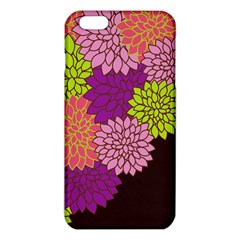 Floral Card Template Bright Colorful Dahlia Flowers Pattern Background iPhone 6 Plus/6S Plus TPU Case