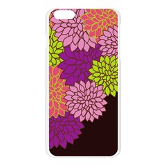 Floral Card Template Bright Colorful Dahlia Flowers Pattern Background Apple Seamless iPhone 6 Plus/6S Plus Case (Transparent)