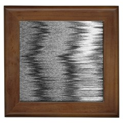 Rectangle Abstract Background Black And White In Rectangle Shape Framed Tiles