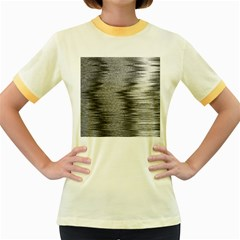 Rectangle Abstract Background Black And White In Rectangle Shape Women s Fitted Ringer T-Shirts