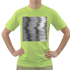 Rectangle Abstract Background Black And White In Rectangle Shape Green T-Shirt