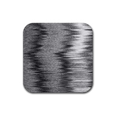Rectangle Abstract Background Black And White In Rectangle Shape Rubber Square Coaster (4 pack)
