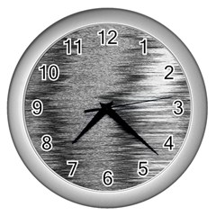 Rectangle Abstract Background Black And White In Rectangle Shape Wall Clocks (Silver)