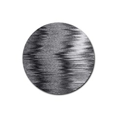 Rectangle Abstract Background Black And White In Rectangle Shape Rubber Coaster (Round)