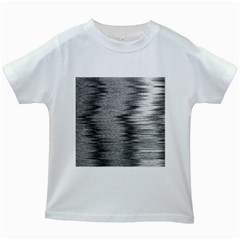 Rectangle Abstract Background Black And White In Rectangle Shape Kids White T Shirts