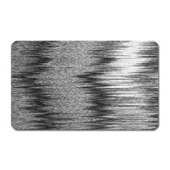 Rectangle Abstract Background Black And White In Rectangle Shape Magnet (rectangular)
