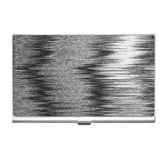 Rectangle Abstract Background Black And White In Rectangle Shape Business Card Holders