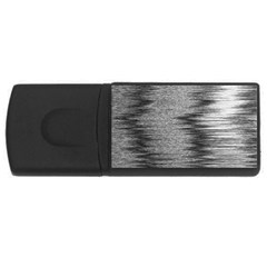 Rectangle Abstract Background Black And White In Rectangle Shape USB Flash Drive Rectangular (1 GB)