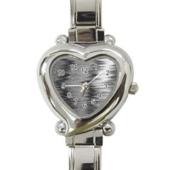 Rectangle Abstract Background Black And White In Rectangle Shape Heart Italian Charm Watch