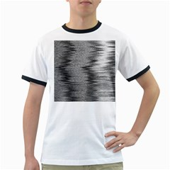 Rectangle Abstract Background Black And White In Rectangle Shape Ringer T-Shirts