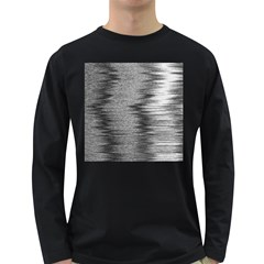 Rectangle Abstract Background Black And White In Rectangle Shape Long Sleeve Dark T-Shirts