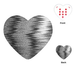 Rectangle Abstract Background Black And White In Rectangle Shape Playing Cards (Heart)
