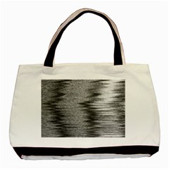Rectangle Abstract Background Black And White In Rectangle Shape Basic Tote Bag