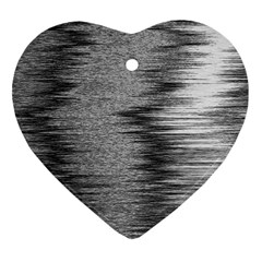 Rectangle Abstract Background Black And White In Rectangle Shape Heart Ornament (Two Sides)