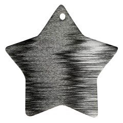 Rectangle Abstract Background Black And White In Rectangle Shape Star Ornament (Two Sides)