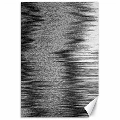 Rectangle Abstract Background Black And White In Rectangle Shape Canvas 24  X 36