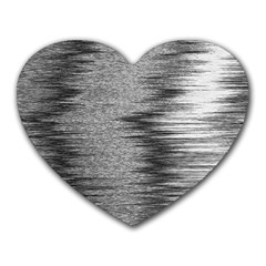 Rectangle Abstract Background Black And White In Rectangle Shape Heart Mousepads