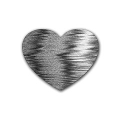Rectangle Abstract Background Black And White In Rectangle Shape Rubber Coaster (Heart)
