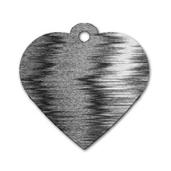 Rectangle Abstract Background Black And White In Rectangle Shape Dog Tag Heart (Two Sides)
