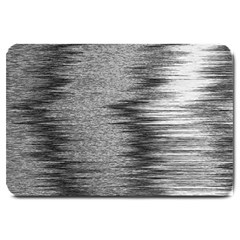 Rectangle Abstract Background Black And White In Rectangle Shape Large Doormat