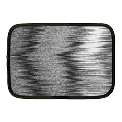 Rectangle Abstract Background Black And White In Rectangle Shape Netbook Case (Medium)