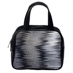 Rectangle Abstract Background Black And White In Rectangle Shape Classic Handbags (One Side)