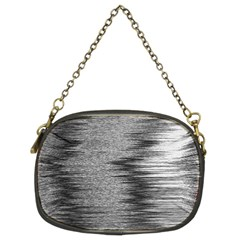 Rectangle Abstract Background Black And White In Rectangle Shape Chain Purses (Two Sides)