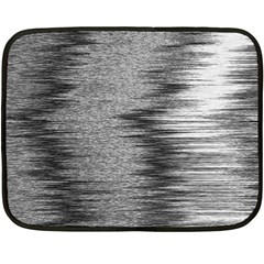 Rectangle Abstract Background Black And White In Rectangle Shape Double Sided Fleece Blanket (Mini)
