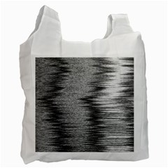 Rectangle Abstract Background Black And White In Rectangle Shape Recycle Bag (One Side)