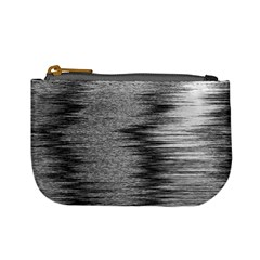 Rectangle Abstract Background Black And White In Rectangle Shape Mini Coin Purses