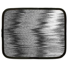 Rectangle Abstract Background Black And White In Rectangle Shape Netbook Case (XXL)