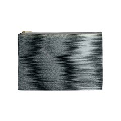 Rectangle Abstract Background Black And White In Rectangle Shape Cosmetic Bag (Medium)