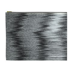 Rectangle Abstract Background Black And White In Rectangle Shape Cosmetic Bag (XL)