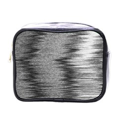 Rectangle Abstract Background Black And White In Rectangle Shape Mini Toiletries Bags