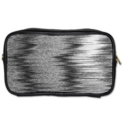 Rectangle Abstract Background Black And White In Rectangle Shape Toiletries Bags 2-Side