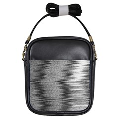 Rectangle Abstract Background Black And White In Rectangle Shape Girls Sling Bags