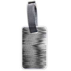 Rectangle Abstract Background Black And White In Rectangle Shape Luggage Tags (two Sides)