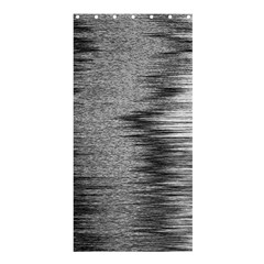 Rectangle Abstract Background Black And White In Rectangle Shape Shower Curtain 36  X 72  (stall)