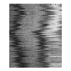 Rectangle Abstract Background Black And White In Rectangle Shape Shower Curtain 60  x 72  (Medium)