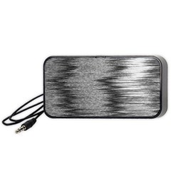 Rectangle Abstract Background Black And White In Rectangle Shape Portable Speaker (Black)