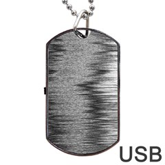 Rectangle Abstract Background Black And White In Rectangle Shape Dog Tag USB Flash (Two Sides)